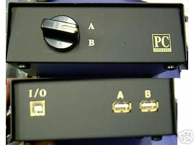*NEW* 2 Way Printer Scanner USB - Port - AB A-B Switch Box - Works with MACS AND PCs by Dataswitch