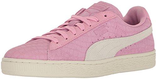 Puma Womens Suede Classic Croc Emboss Wns Fashion Sneaker Prism Pink-puma White