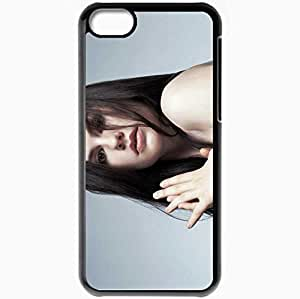 Personalized iPhone 5C Cell phone Case/Cover Skin Anna Paquin Black by supermalls