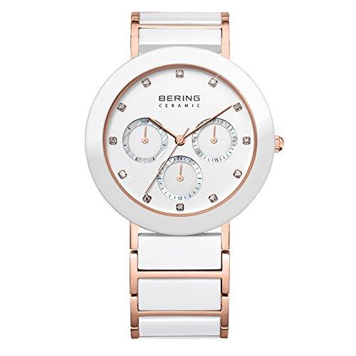 BERING Time 11438-766 Womens Ceramic Collection Watch with Stainless steel Band and scratch resistant sapphire crystal. Designed in Denmark.