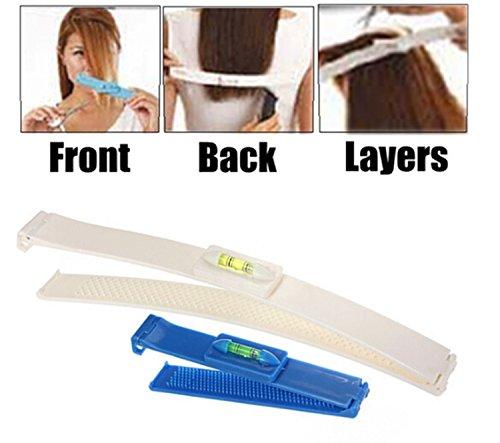 1x Pro-Scherer-Trimmer Verdünnung Hairstyling Salon Schneidwerkzeuge Kit DIY Hair Styling Ruler