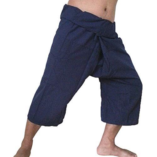 Men's Pants, KpopBaby Linen Pocket Plus Size Casual Ninth Length Pants Yoga Sport Trouserjeans Sweatpants Fitness pants Rompers Bib pants -