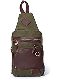 Canvas Men's Casual Sports Daypack chestbag Outdoor School Bag Book Bag