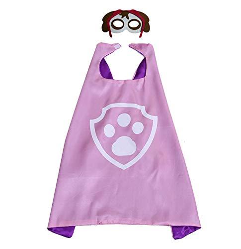 Astra Gourmet Paw Dog Patrol Cape and Mask Costume Set - Dress Up Comic Cartoon Superhero Costume for Kids (Skye)]()