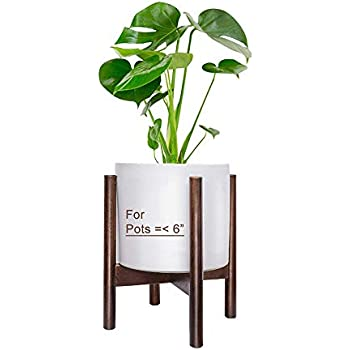 Plant Stand Fixget Detachable Plant Display Shelf Mid-Century Wood Flower Plant Pot Holder Rack Decor for Indoor and Outdoor