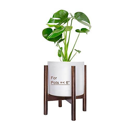 - Mid Century Plant Stand - Indoor Wood Flower Pot Holder, Wooden Display Potted Rack, Modern Home Decor for Living Room, Bedroom and Office - Fits Max 6 Inch Planter (Plant and Pot NOT Included)