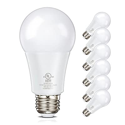 LED Bulb, 9W (60W equivalent), 3000K (Soft White Glow), Dimmable, Wide Flood Light Bulb, 220° Beam Angle, Medium Base (E26), Energy Star Certified, UL-Listed
