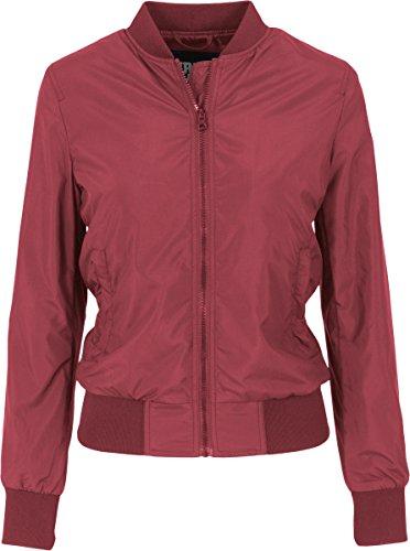 606 Giacca burgundy Bomber Rot Ladies Classics Jacket Light Urban Donna f74wZAgqSx