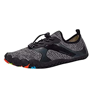 MTENG Unisex Quick-Dry Water Shoes Pool Beach Swim Drawstring Shoes Creek Diving Shoes (39-47)