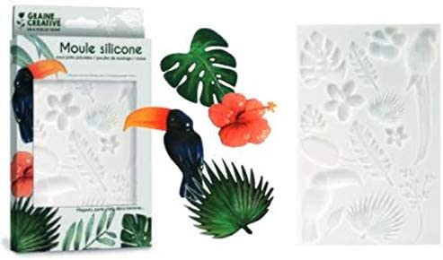 Graine Cr/éative Silicone Mould for Polymer Clay Tropical 20 x 13 cm