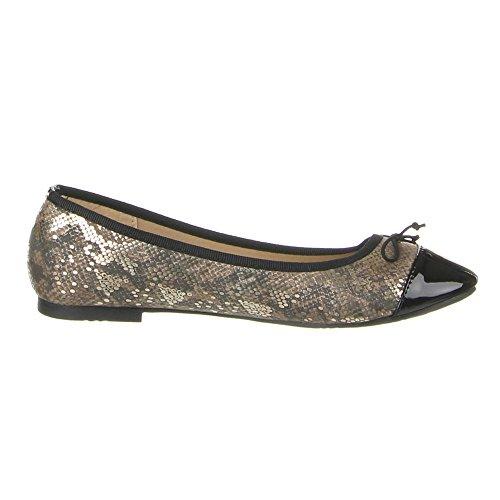 Ital-Design - zapatilla baja Mujer Dorado - dorado