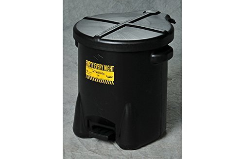 Eagle 933FLBK Black Oily Waste Can, 6 gal Capacity