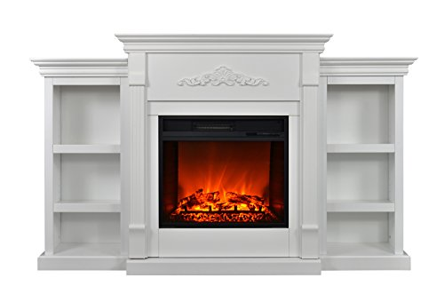 Review Of 3G Plus Electric Fireplace TV Stand Convertible Bookcases with Firebox 70 (White)