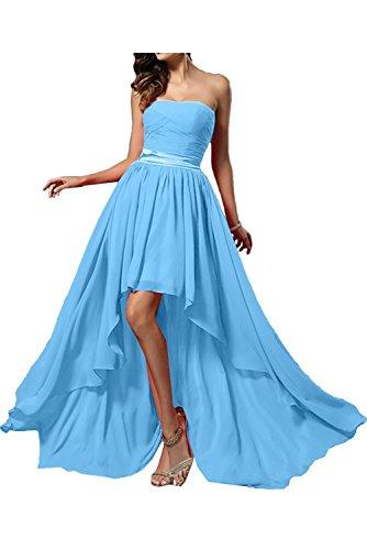 Partykleider Marie A Abendkleider Braut Damen Herzausschnitt Chiffon Blau Promkleider Lang La Linie 1qTRnWR