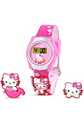 Hello Kitty Digital Watch LCD display with Slide on Characters