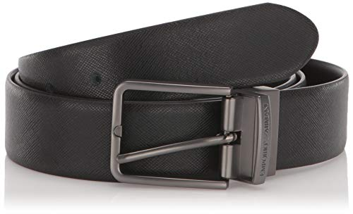 (Emporio Armani Men's Belt, black, One Size)