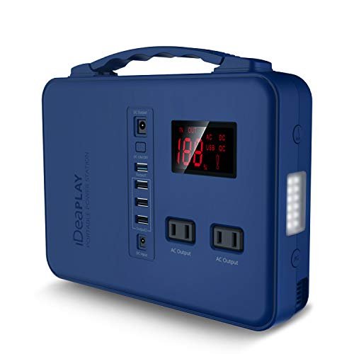 IDEAPLAY Portable Power Station Generator 150Wh, Rechargeable Emergency Backup Lithium Battery with 110V/200W AC Outlet, 12V DC Output, USB Ports, LED Flashlight, for Home Travel Camping Outdoors Uncategorized