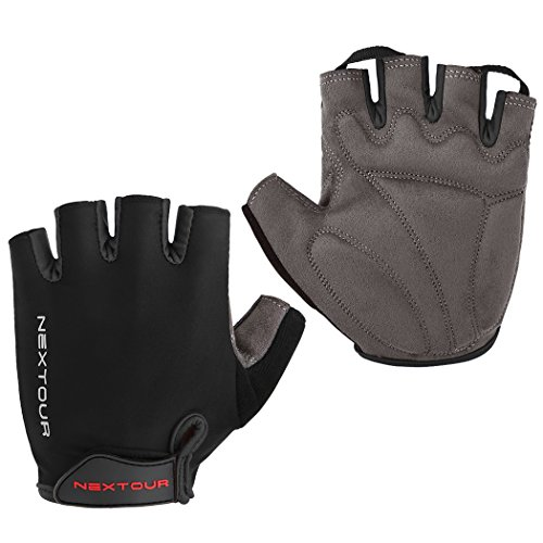 Cycling Gloves Mountain Bike Gloves Bicycle Half Finger Road Riding Gloves with Shock-absorbing Pad Biking Gloves for Men and - Apparel Women's Cycling