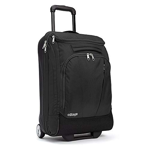 eBags Mother Lode 21 Inches Carry-On Rolling Duffel (Solid Black)