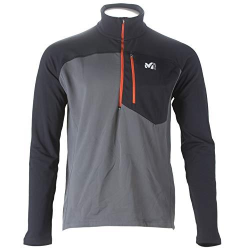 Millet Men's Techno Stretch Half Zip Soft Shell Jacket Small Charcoal/Noir ()