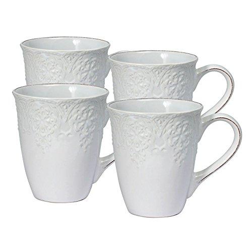 (Pfaltzgraff French Lace White Mug (15-Ounce, Set of 4))