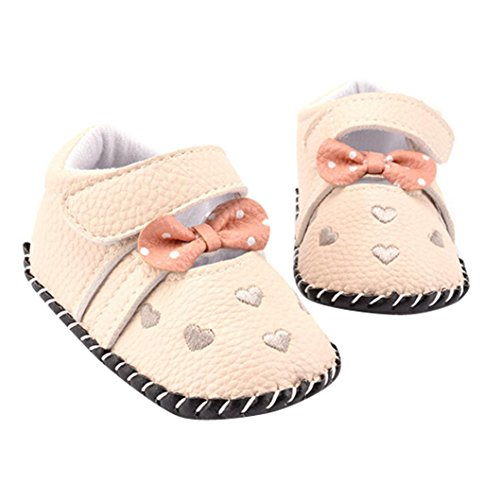 Voberry Infant Toddlers Baby Girls Soft Soled Embroidered Crib Shoes (0~6 Month, A)