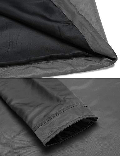 34 Cortavientos Con Azul Negro Capucha Huixin Outdoor Eu Softshell Grau Lluvia Desmontable Exterior Mujer Chaqueta Para 52 wxqxHnU6B
