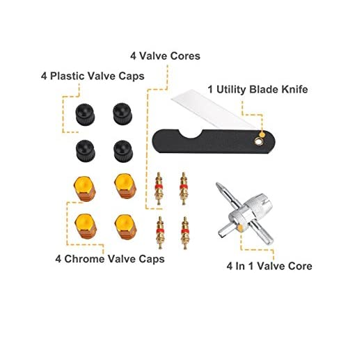 Kit De Réparation Du Pneu, AUPERTO 65 Pcs Heavy Duty Tous Outils Ensemble Pour Moto, VTT, Jeep, Camion, Tracteur Plat Crevaison Réparation De Pneus low-cost