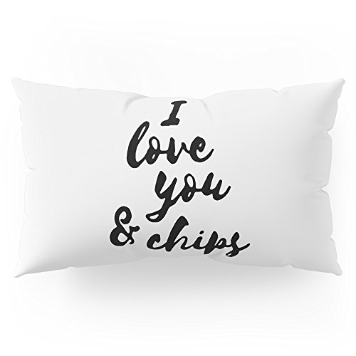 Society6 I Love You & Chips Pillow Sham King (20'' x 36'') Set of 2 by Society6