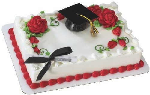 Decopac Black Graduation Cap with Tassel DecoSet Cake -
