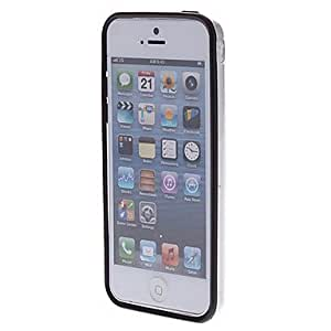 GHK - Double Colors Transparent TPU Soft Bumper Frame for iPhone 5C (Optional Colors) , Navy