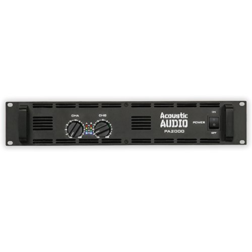 Acoustic Audio PA2000 Amp Two Channel 2000 Watt Pro Audio Power Amplifier PA DJ