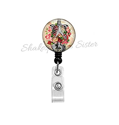 Human Anatomy Art - Badge Reel - Skeleton Art - Nurse Badge Reel - Teacher ID Holder - Gift for Nurse - ID Holder - Medical Badge Reel