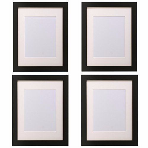 4 Piece Matted Set of 11x14-Inch Frames With Opening For 8x10 Photo-Art Print-Poster