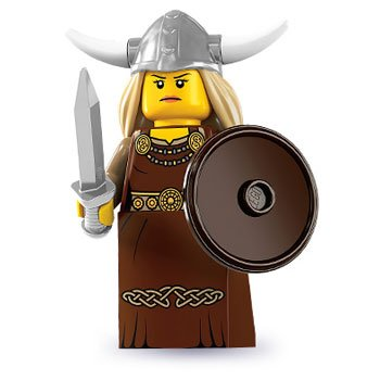 Lego Series 7 Viking Woman Mini Figure
