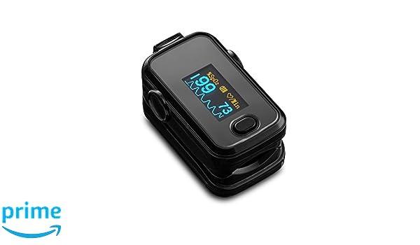 Dedo Pulso Oxímetro SPO2 pulso pulso con OLED - monitor en color Negro: Amazon.es: Salud y cuidado personal