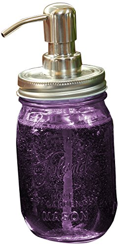 Toland Home Garden Soap Dispenser Purple Mason Jar, Pint from Toland Home Garden