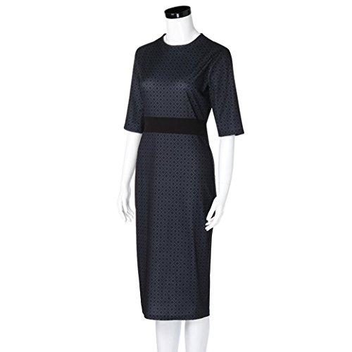 Damen Hepburn Kleider TPulling Frau Hat Das Gabeltop Blumen Taille ...