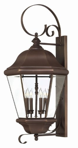 Hinkley 2406CB Traditional Four Light Wall Mount from Clifton Park collection in Copperfinish,