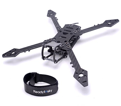 Readytosky 250mm FPV Racing Drone Frame Carbon Fiber True X Quadcopter Frame with 4mm Arms+Lipo Battery Straps