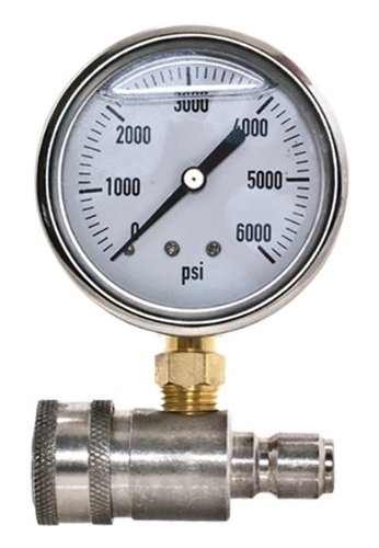 New stainless steel adaptor pressure gauge kit for