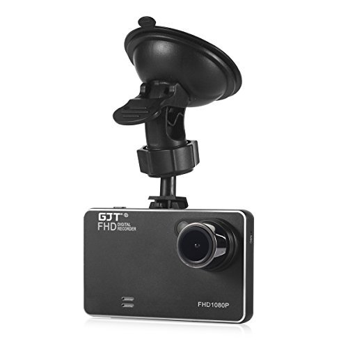 GJT T161 2.7' Slim Car Camera Full HD 1080P 170 Degrees Vehicle DVR Accident Video Recorder Dashcam Road Dash Cam Video Recorder Parking Monitor Night Vision G-sensor HDMI(BLACK)