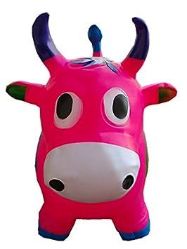 Rosa Rhino para niños, L & H de muñeca hinchable caballo Hopper ...