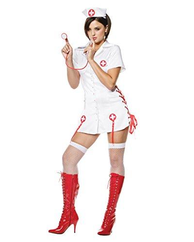 Sexy Nurse Dress Nurses Uniform White Nurse Theatre Costumes Sizes: Large