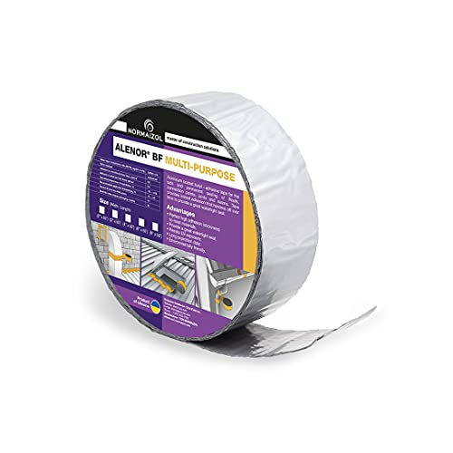 Alenor Aluminum Waterproof Sealant Butyl Repair Tape 2″ x 50 Feet RV Sealing Tape for Roof Leak Indoor Outdoor Use PVC Pipe Repair HVAC Vent Air Conditioner Window Seal Unit Rain Flashing Tape