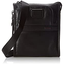 Tumi Alpha 2 Leather Pocket Bag Small, Black, One Size