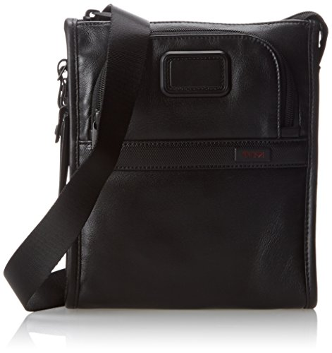 Tumi Alpha 2 Leather Pocket Bag Small, Black, One Size by Tumi