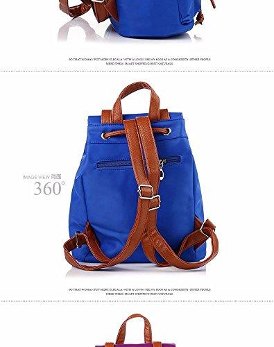 Femme bleu à Dos Sac Double Institute de Mode Fashion Dos Sac MSZYZ Loisir Vent à 6UHtWwx