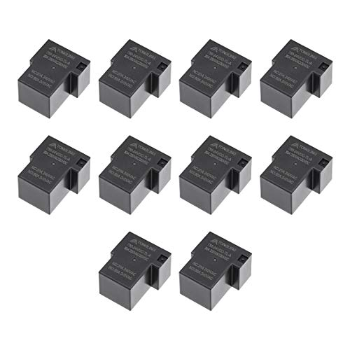 uxcell 10 Pcs T90-24VDC-TL-A DC 24V Coil SPST 4 Pin PCB Electromagnetic Power Relay