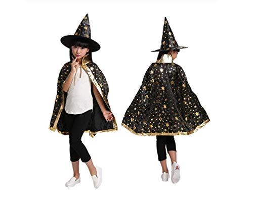 Elanbest Halloween Costume for Children Kids Cloak for Girls Boys Cloak with Hat -